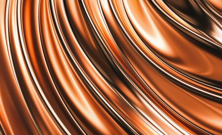 Beautiful, luxurious, luxury copper background. 3d illustration, 3d rendering