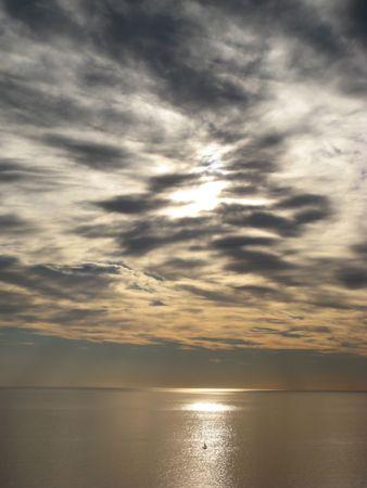 terra: Cinque Terra Sunset Stock Photo