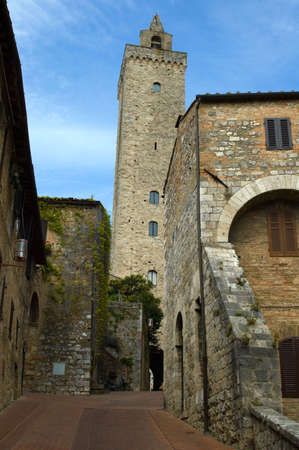 San Gimignano, Tuscany, Italy, medieval city of towers. photo