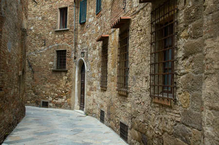 montepulciano: Alley in Montepulciano, Italy. Stock Photo