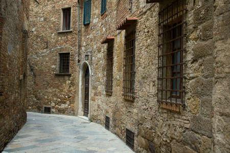 montepulciano: Alley in Montepulciano, Italy. Stock Photo