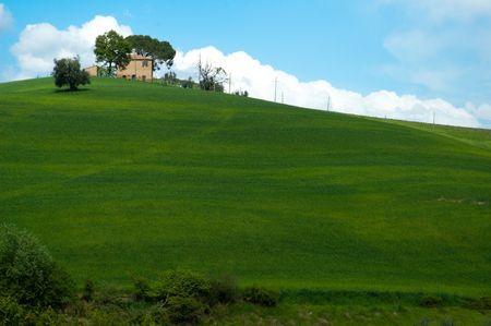 Farm buildings in Tuscany region of Italy.