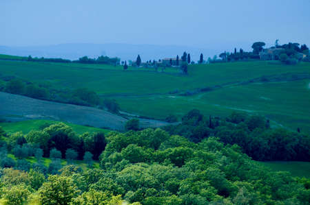 Rural countryside landscape in Tuscany region of Italy. Banco de Imagens - 1149015