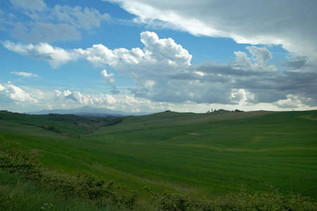 Rural countryside landscape in Tuscany region of Italy. Banco de Imagens - 1149021