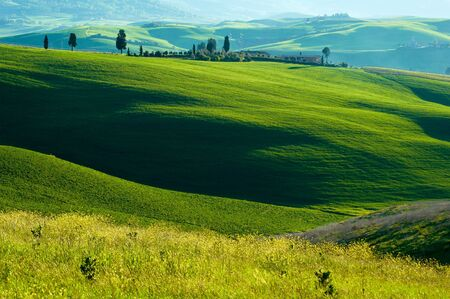 Rural countryside landscape in Tuscany region of Italy.