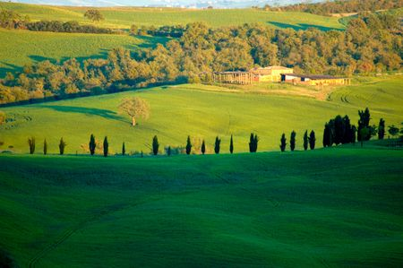 Rural countryside landscape in Tuscany region of Italy. Banco de Imagens - 1157388