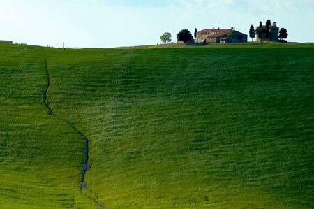 Farmhouse in Tuscany region of Italy. Stock Photo