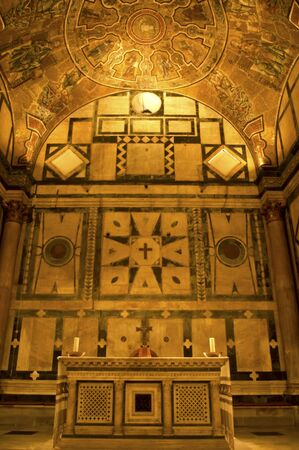 sanctified: Altar in the Baptistry of the Duomo, central cathedral of Florence, Italy.