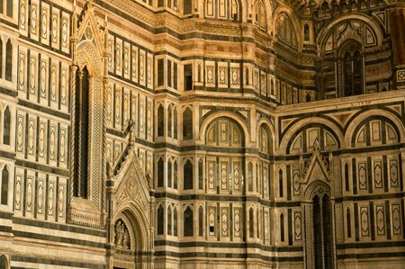 sanctified: The Duomo at night, main cathedral of Florence Italy.