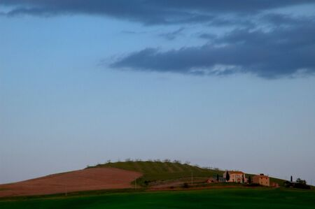 Evening landscape in the Tuscany region of Italy. Banco de Imagens - 4032985