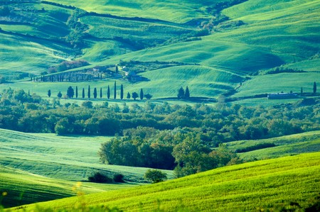 Rural countryside landscape in Tuscany region of Italy. Banco de Imagens - 4058804
