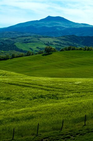 Rural countryside landscape in Tuscany region of Italy. Banco de Imagens - 4058551