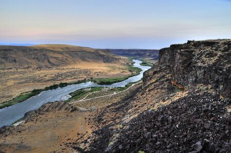 Sunrise over the Snake River Canyon south of Boise, Idaho Stock Photo - 4058963