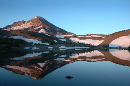 oregon cascades: Camp Lake beneath South Sister Mountain, Oregon