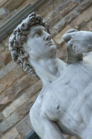 florence   italy: Statue of Michelangelos David in Florence Italy Stock Photo