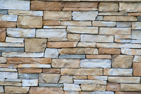 A wall of pale sandstone bricks, good for a texture.