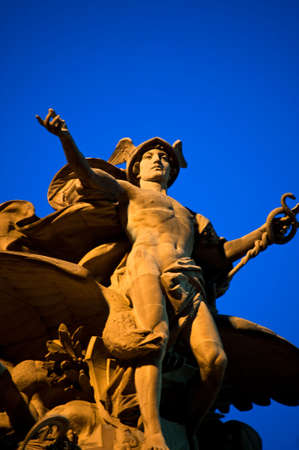 Statue of Mecury at the Grand Central Station in New York City. Stock Photo - 4809705