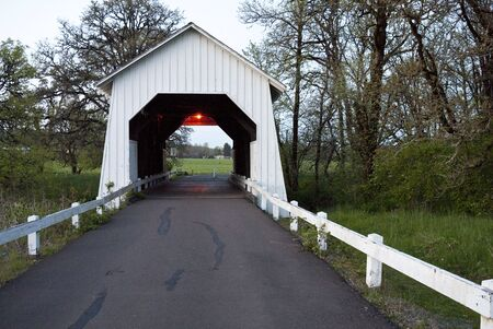 Irish Bend covered bridge in Corvallis, Oregon