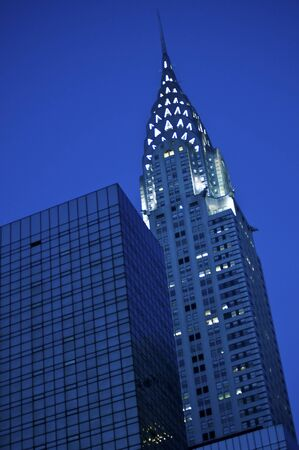 New York City's Chrysler Building lit up at night Stock Photo - 8023122
