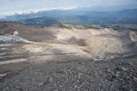 Track of a glacier thats disappearing on Mt Hood because of global warming