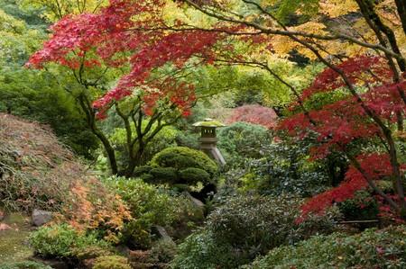 Shrine in Japanese garden, Portland, Oregon photo