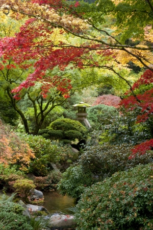 portland: Shrine in Japanese garden, Portland, Oregon