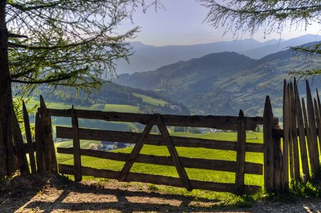 Wooden gate in South Tyrol region of Northern Italy