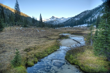 Small creek in the high Wallowa mountains of Oregon Stock Photo
