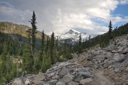 Trail in the high Wallowa Mountains of Oregon
