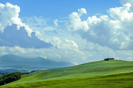 countryside landscape: Rural countryside landscape in Tuscany region of Italy.