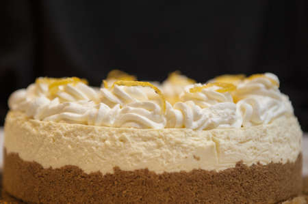 zest: Lemon cheesecake with sprinkle zest on top