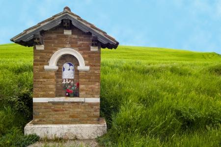 Roadside shrine in the Tuscany region of Italy.