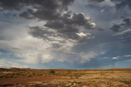 Dramatic clouds is desert of American southwest Stock Photo - 13732755
