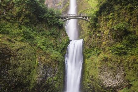 Waterfalls and bridge, Multnomah Falls, Columbia River Gorge