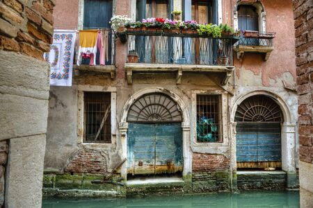 europeans: Balcony above a canal in Venice, Italy