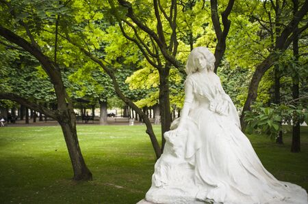 Statue of George Sand in Luxembourg Garden, Paris