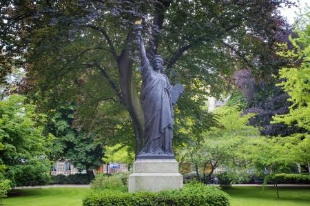 Replica van Statue of Liberty, Jardin du Luxembourg, Parijs