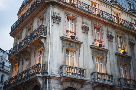 apartment: Traditional style apartment buildings in Paris
