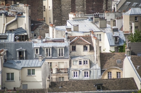 Paris rooftops seen from tower of Notre Dame Stock Photo - 18240502