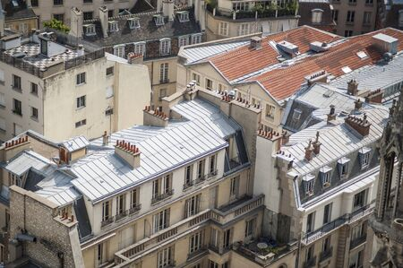 Paris rooftops seen from tower of Notre Dame Stock Photo - 18240507