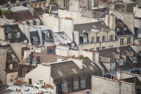 Paris rooftops seen from tower of Notre Dame Stock Photo - 18240503
