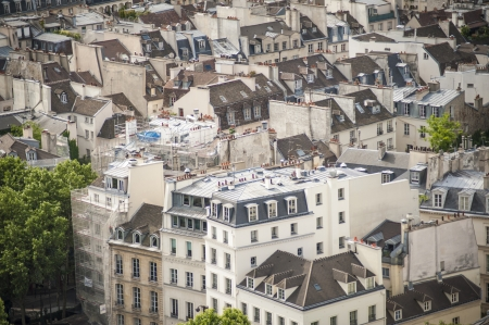 Paris rooftops seen from tower of Notre Dame Stock Photo - 18240504