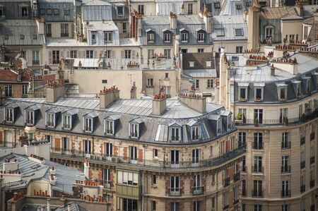 Paris rooftops seen from tower of Notre Dame Stock Photo - 18240506