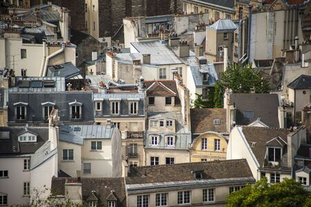 Paris rooftops seen from tower of Notre Dame Stock Photo - 18240505