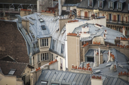 Paris rooftops seen from tower of Notre Dame Stock Photo - 18240499