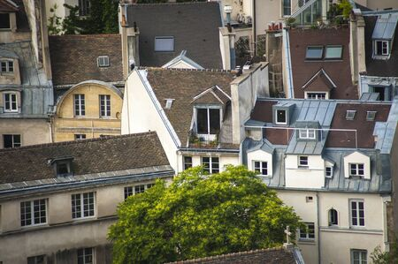 mansard: Paris rooftops seen from tower of Notre Dame