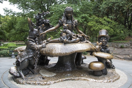 Alice in Wonderland memorial in Central Park, New York City