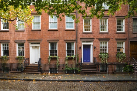 Old Greenwich Village apartment buildings in New York City Stock Photo - 18279684