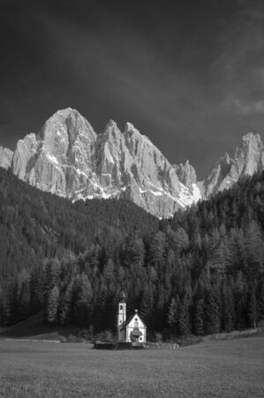 Dolomite mountains in the Tyrolean region of northern Italy photo