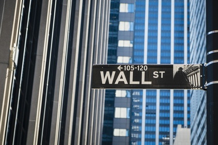 wall street: Sign for Wall Street in New York City Stock Photo